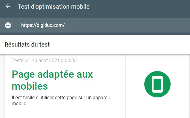 outil mobile friendly test de google